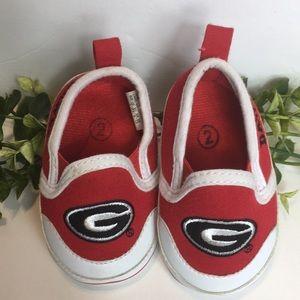 Georgia Bulldogs Infant Shoes Sz 2